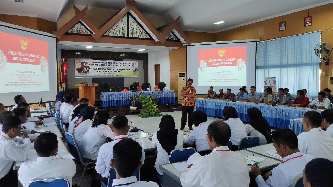 BBPP Batangkaluku Menggelar Pelatihan Fungsional Alih Kelompok Bagi Penyuluh Pertanian