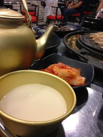 Running Man Korean BBQ Restaurant, makgeolli