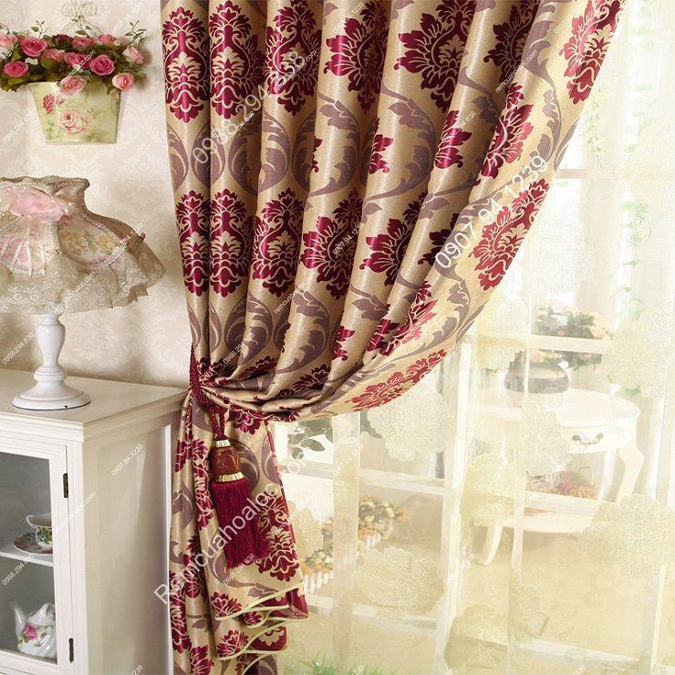 Rèm vải đẹp hà nội vector hoa đông á 6