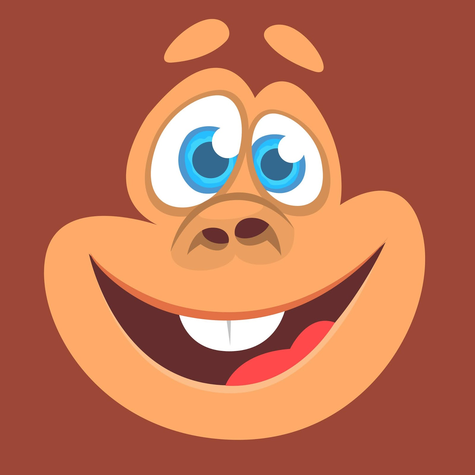 Cartoon Funny Monkey Face Avatar Free Download Vector CDR, AI, EPS and PNG Formats