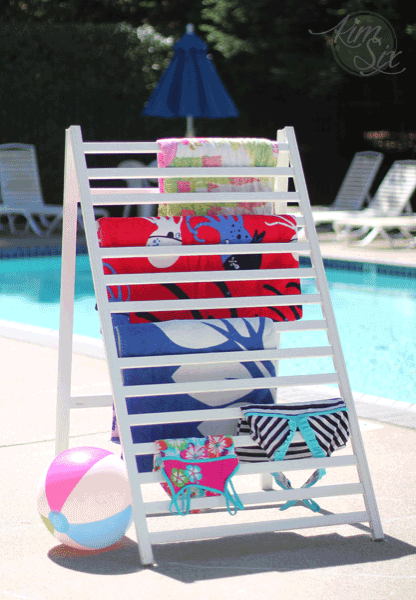 Pool side towel drying rack DIY