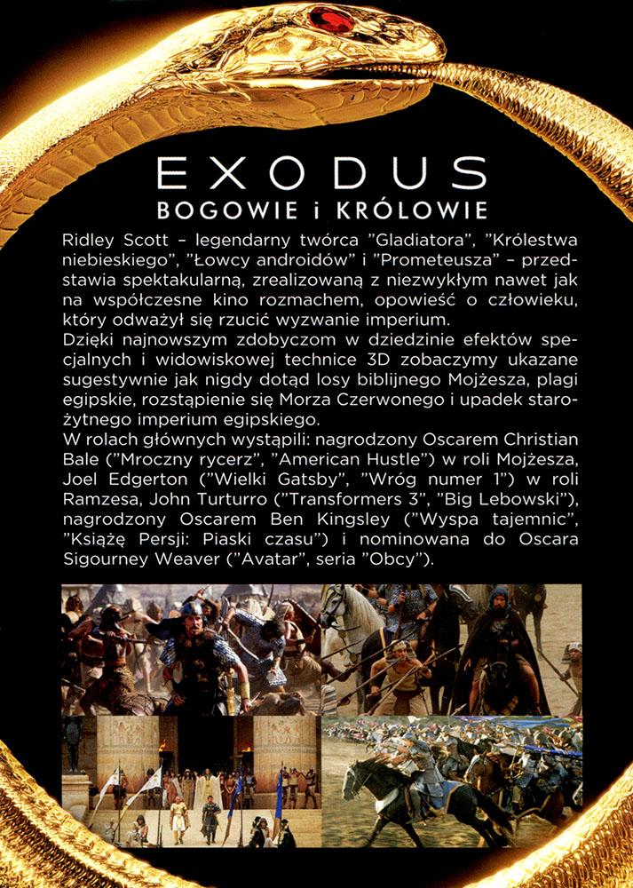 Ulotka filmu 'Exodus: Bogowie i Królowie (tył)'