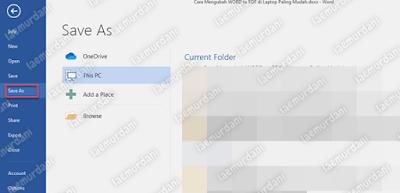 Convert File Word ke PDF OFFLINE