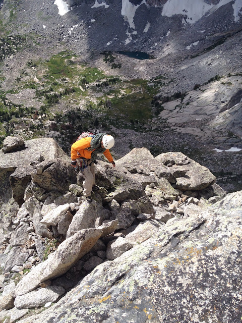 The last scramble up to the summit of Pingora