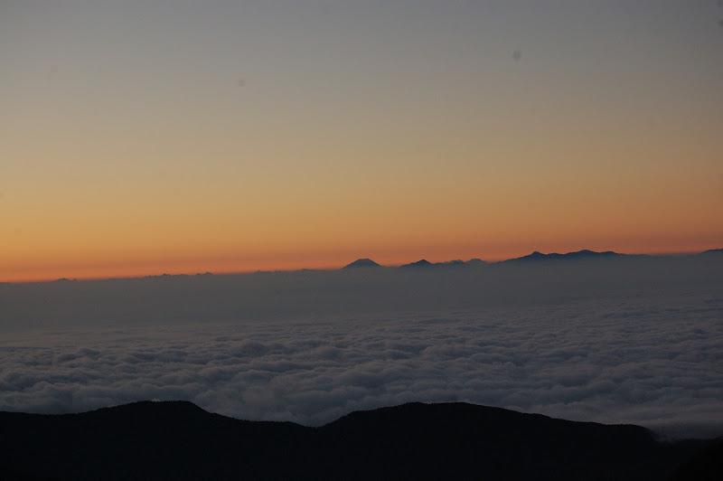 富士山も見えました。