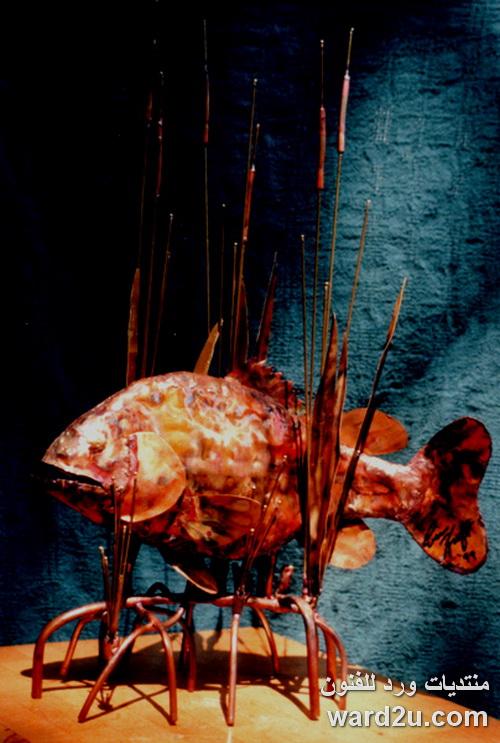 تشكيل نحاس اسماك ابداع الفنان Eric Kraft