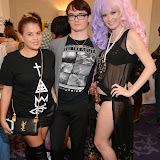 WWW.ENTSIMAGES.COM -   Lady Nadia Essex, Fossy Meade and Kitty Brucknell    at  LFW - Fashions Finest at Grand Connaught Rooms second show, London September 14th 2014                                                    Photo Mobis Photos/OIC 0203 174 1069