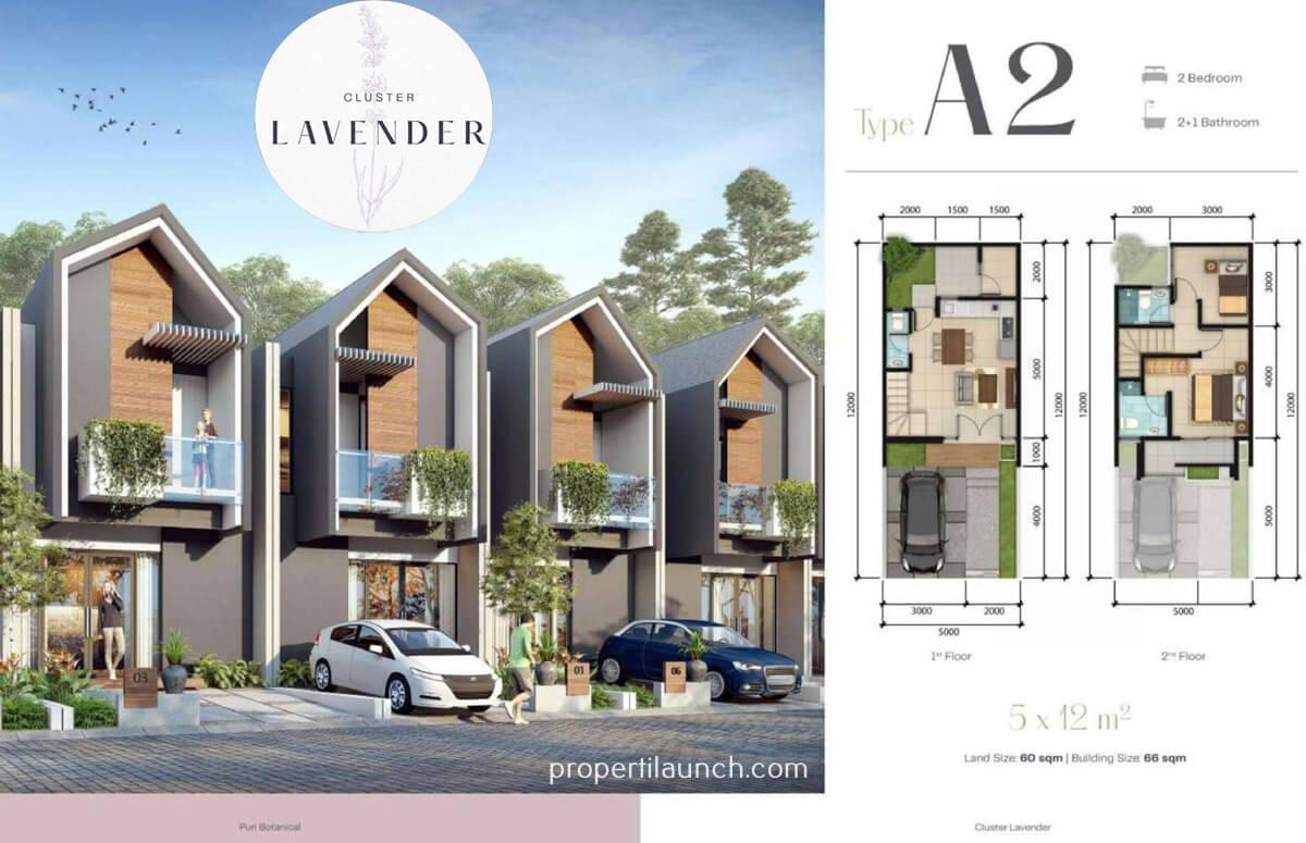 Rumah Lavender Puri Botanical Tipe A2