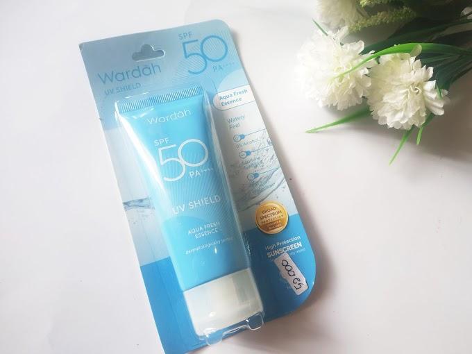 Review Sunscreen Wardah UV Shield Fresh Essence SPF 50 PA++++