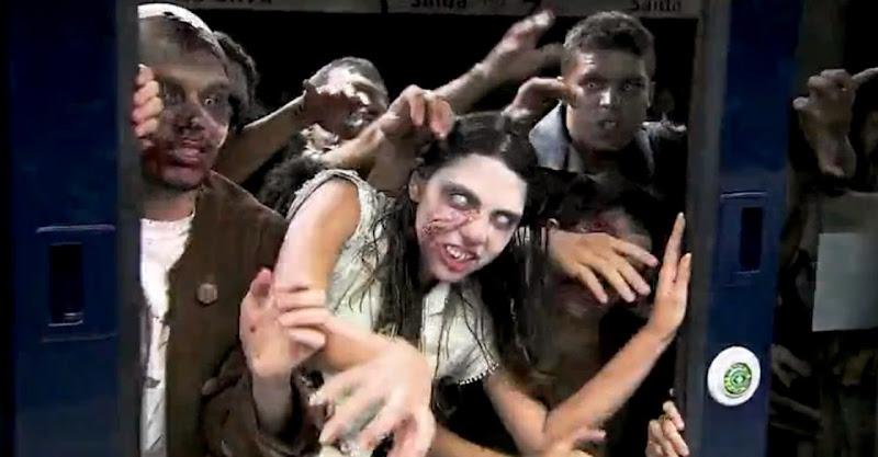 Pegadinha: ataque de zombies no metro