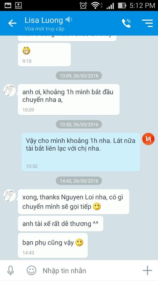 Phản hồi của Mrs. Lương