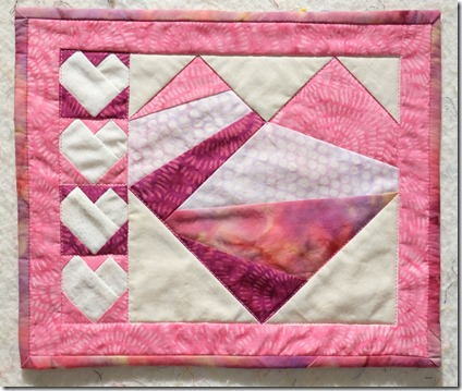 quilted heart mini quilt