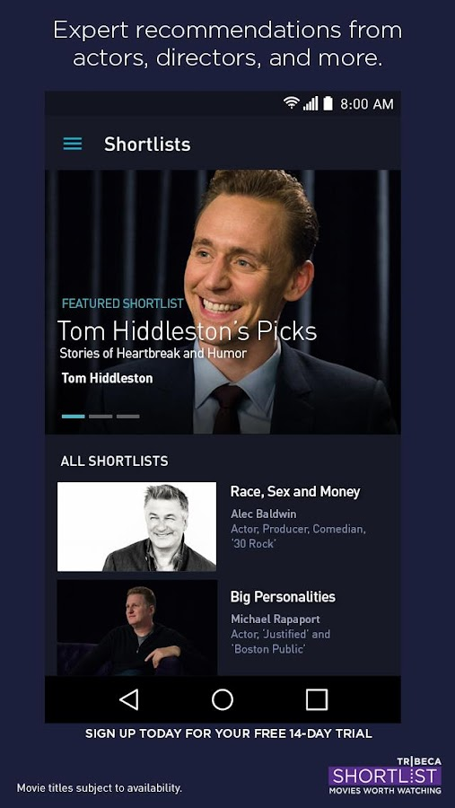 Tribeca Shortlist - Movies- screenshot