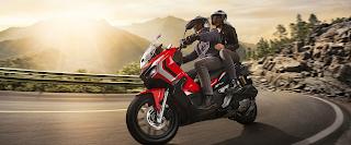 Honda Adv Warna Merah Di Pebayuran Bekasi