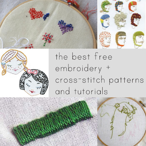 The Best Free Embroidery And Cross Stitch Patterns And Tutorials