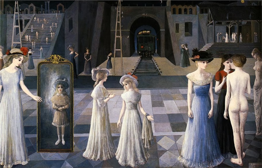 Paul Delvaux - The Tunnel, 1978