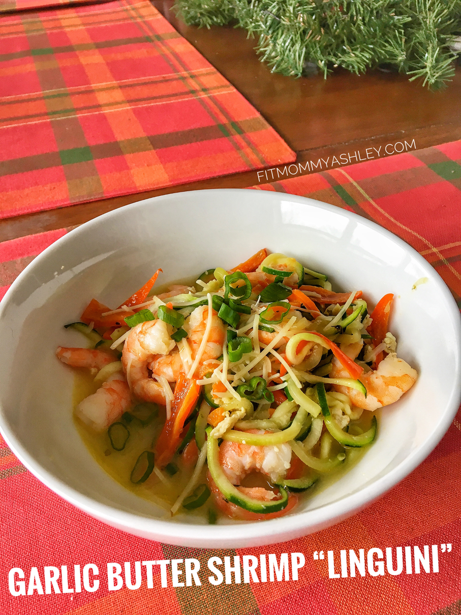 shrimp, linguini, healthy, zucchini, veggie, low carb, 21 Day Fix, friendly, clean, 80 Day Obsession, healthy, fitmommyashley, Ashley Roberts