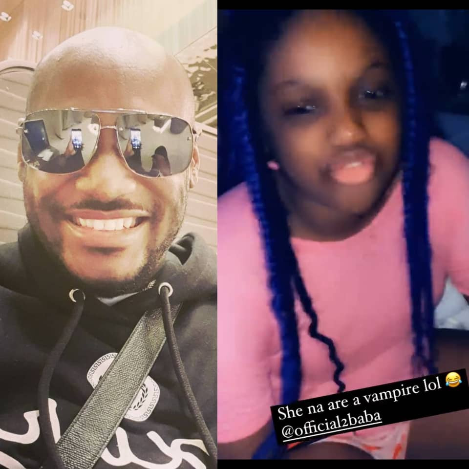 ''Are you a vampire? You would be looking as if you are 19 years old''- 2face Idibia's daughter comments on her father's 'forver young' look