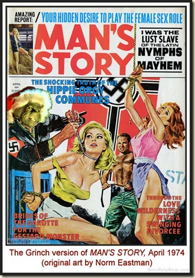 MAN'S STORY, April 1974 - spoof cover MPM