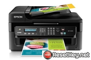 Reset Epson WorkForce WF-2520 printer Waste Ink Pads Counter