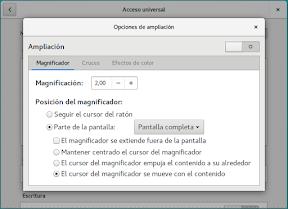 Configurar el sistema. Accesibilidad en Linux y otros. Portada. Ampliación.