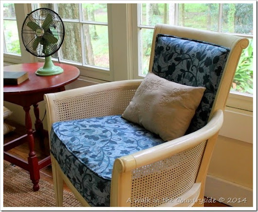 French Chair in the Sunroom