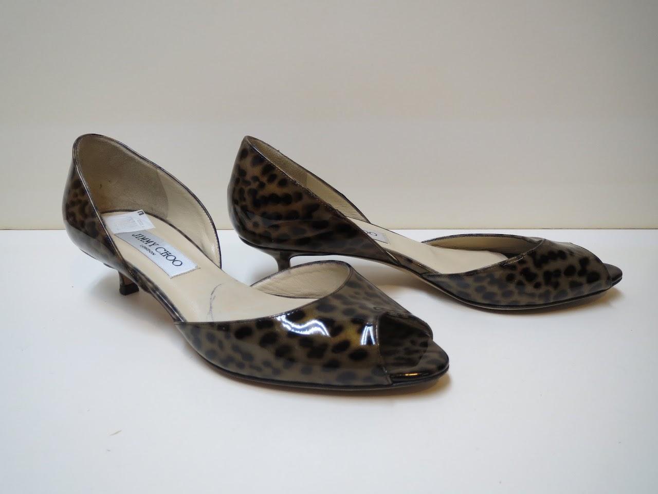 Jimmy Choo Patent Leather Kitten Heels