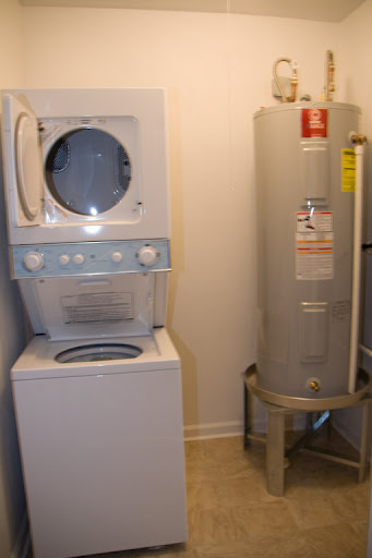 Inside the utility closet