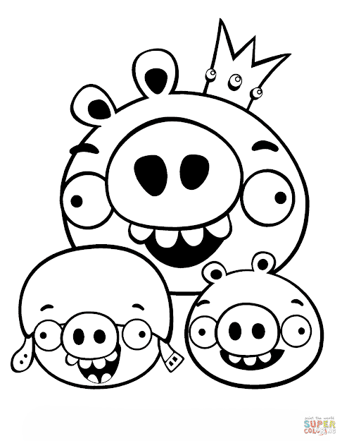 Click The King Pig Corporal And Minion Coloring Pages