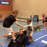 Gym acrobatiek en dodgeball