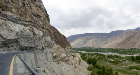 The landscape changes when you enter in Gilgit-Baltistan