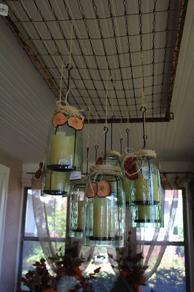 Hanging mason jars on crib springs