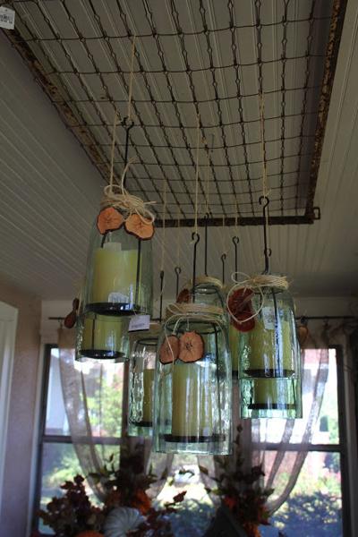 Hanging mason jars on crib springs