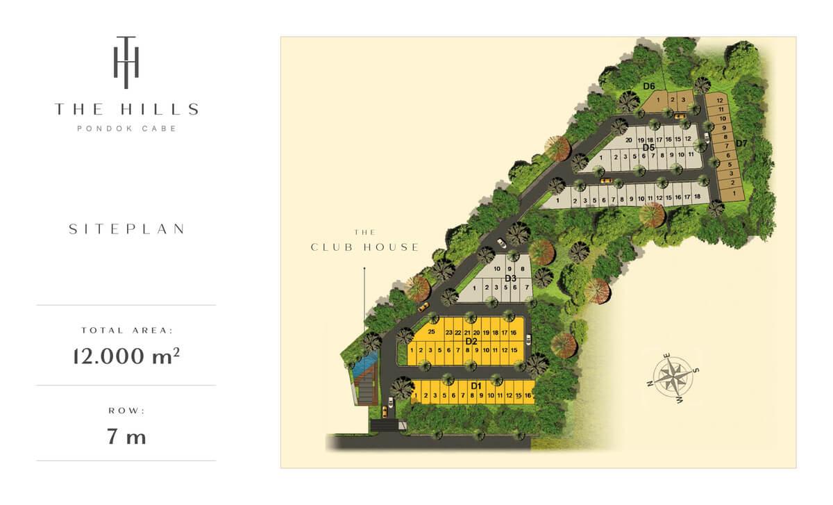 Siteplan Perumahan The Hills @ Pondok Cabe