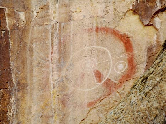 Interesting petroglyph/pictograph combo