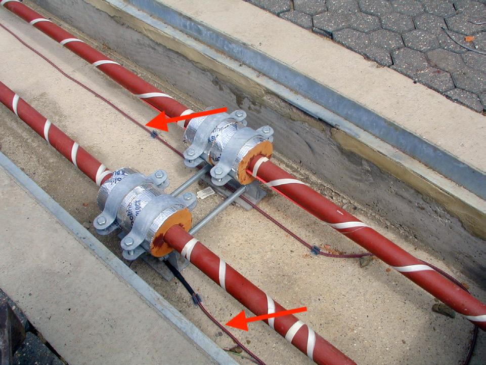 Instalacja wykrywająca wycieki i nieszczelności z rurociągu transportującego olej napędowy.