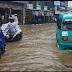 Akibat Hujan Deras Kota Nayor Cibadak Kebanjiran