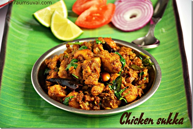Chicken sukka / Chettinadu chicken sukka