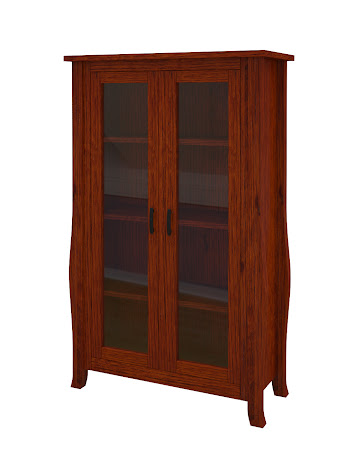 Cascade Glass Door Bookshelf in Michigan Quarter Sawn Oak