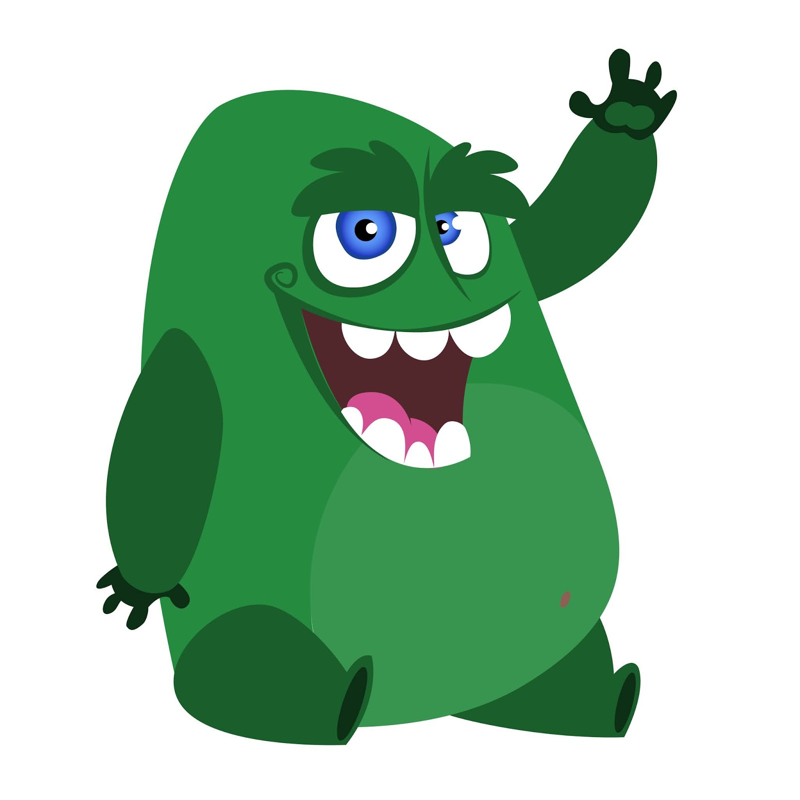 Angry Cartoon Monster Character Illustration Free Download Vector CDR, AI, EPS and PNG Formats