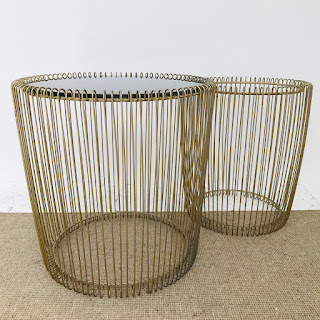 Wire Accent Table Pair
