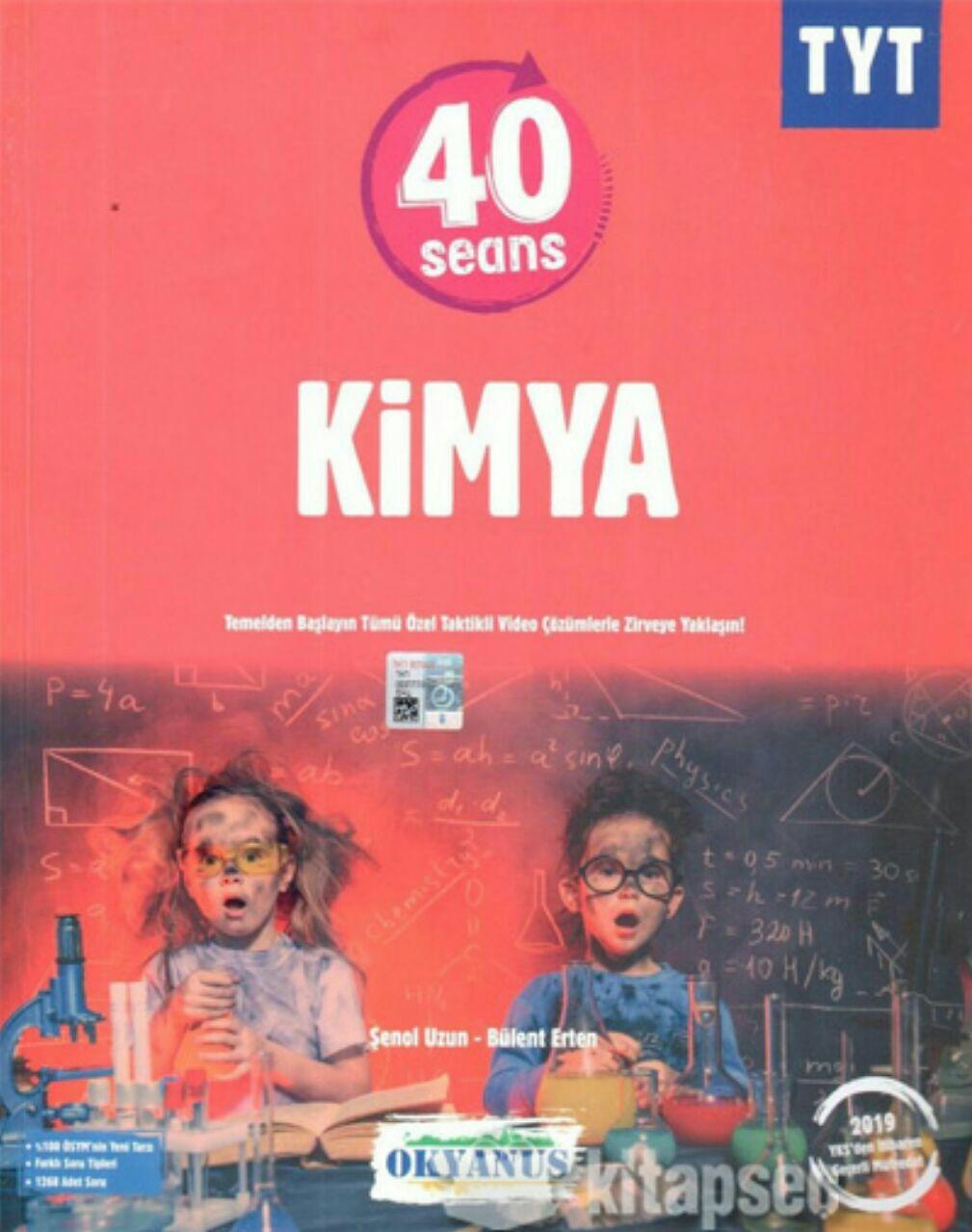 Okyanus Yayınları TYT Kimya 40 Seans Soru Bankası