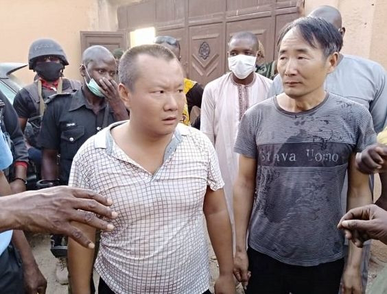 DISGRACEFUL!! Two Chinese Nationals Arrested For Illegal Mining In Zamfara