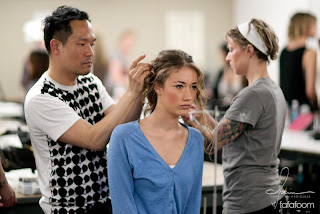 CCA Graduate Student Fashion Show 2011 - Backstage