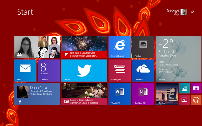 Windows 8 home screen
