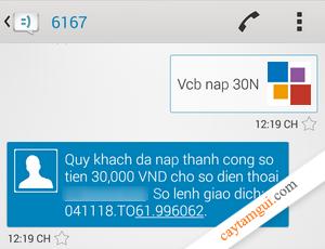 Hướng dẫn nạp tiền điện thoại từ thẻ ATM Vietcombank tại nhà