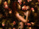 Girl In Rose Bush