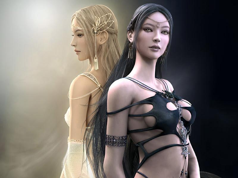 Dark Goddess Lovely Woman, Goddesses