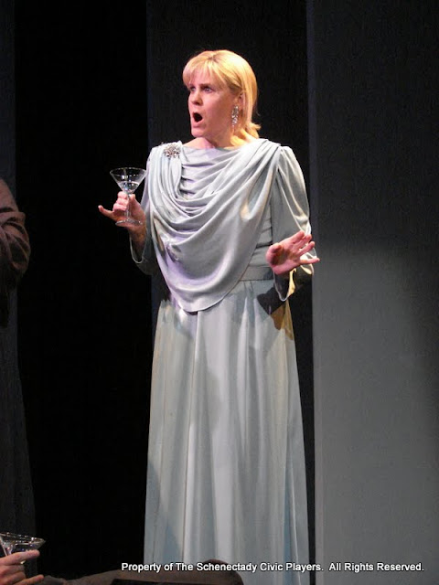 """Cristine M. Loffredo in """"Mystery at Twicknam Vicarage"""" as part of THE IVES HAVE IT - January/February 2012.  Property of The Schenectady Civic Players Theater Archive."""