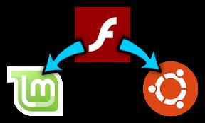 Instalar Flash en Linux Mint y Ubuntu. Logo.
